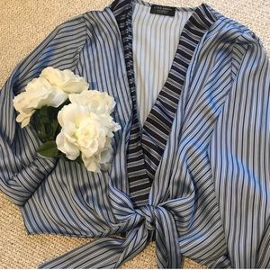 Blue Stripe Body Suit